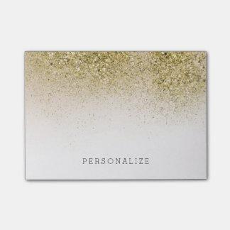 Hübsches und Glittery Gold Post-it Klebezettel