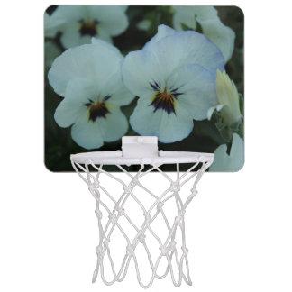 Hübsches weißes Stiefmütterchen Mini Basketball Netz