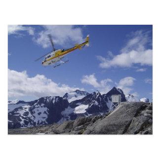 Hubschrauber auf der Postkarte Juneau Icefield