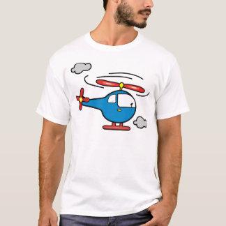 Hubschrauber-Blau ein Rot T-Shirt