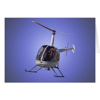 Hubschrauber-Karten-Fliegen-Chopper-Gruß-Karte Karte