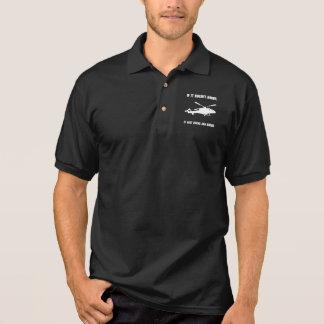 Hubschrauber-Schwebeflug Polo Shirt