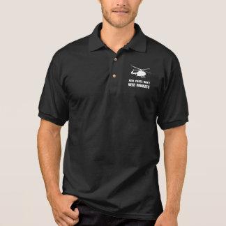 Hubschrauber-Versuchsrollbahnen Polo Shirt