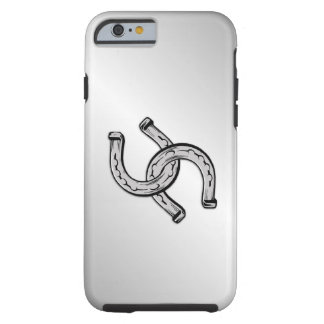 Hufeisen auf Silber Tough iPhone 6 Hülle