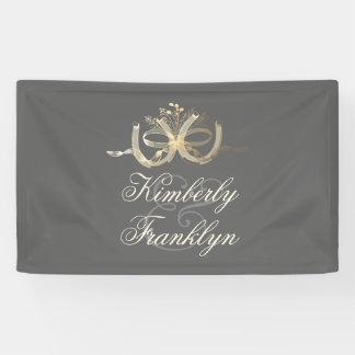Hufeisen-rustikale Land-Hochzeit Banner