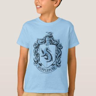 Hufflepuff Wappen-Blau T-Shirt