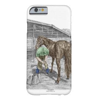 Hufschmied-Schmiedezutat-Pferdehuf Barely There iPhone 6 Hülle