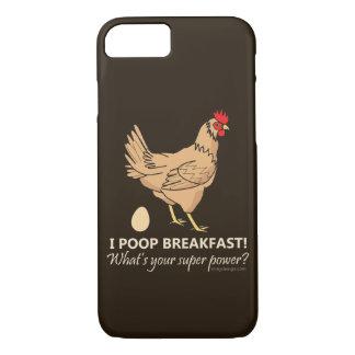 Huhn kackt Frühstücks-lustigen Entwurf iPhone 8/7 Hülle
