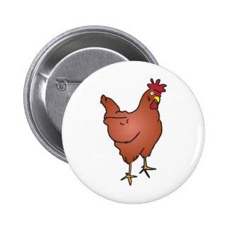 Huhn Runder Button 5,7 Cm
