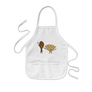 Huhn und Waffeln amerikanisch u. südliches Kochen Kinderschürze