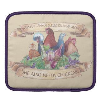 Hühner und Wein iPad Sleeve