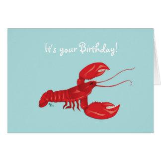 Hummer-Geburtstags-Karte Karte