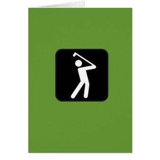 Humorvolle Golf spielende Karte