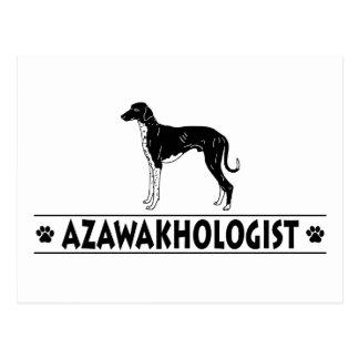 Humorvoller Azawakh Hund Postkarte
