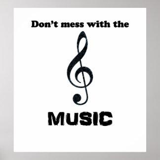 """Humorvolles Musik-Plakat """"verwirren nicht mit der Poster"""
