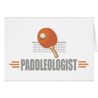 Humorvolles Tischtennis Karte