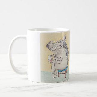 Humorvolles Warthog, das Stickerei tut Tasse