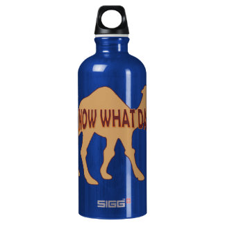 HUMPDAY! BUCKEL-TAGESkamel Aluminiumwasserflasche