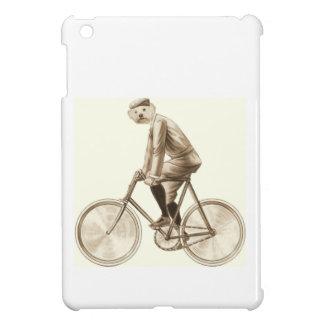 Hund auf Vintagen Mischmedien eines Fahrrades Hülle Für iPad Mini