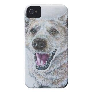 Hund, der Entwurf des Sitzens des glücklichen iPhone 4 Case-Mate Hülle