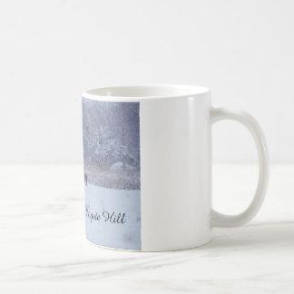 Hund im Schnee Kaffeetasse