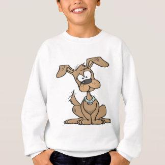 Hund mit einem lustigen verwirrten sweatshirt
