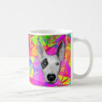 Hund - Mosaik-Hintergrund Tasse