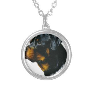 Hund-rottweiler Halskette Mit Rundem Anhänger