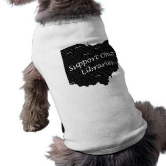 Hündchen-Bibliotheks-Shirt! Ärmelfreies Hunde-Shirt