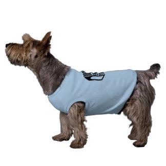 Hündchen-gewelltes Trägershirt - Ärmelfreies Hunde-Shirt