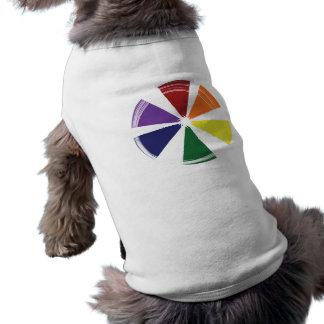 Hündchen-gewelltes Trägershirt STOLZ-FARBrad Ärmelfreies Hunde-Shirt