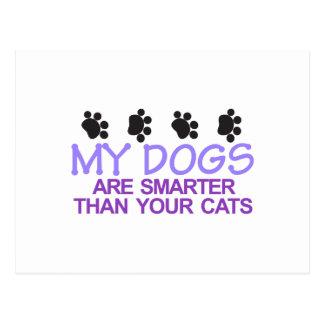 Hunde sind intelligenter postkarte