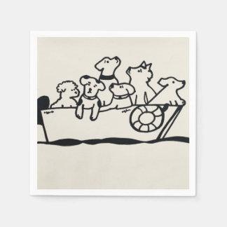 """""""Hunde-und Boots-"""" Papierservietten durch"""