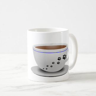 Hunde- und Kaffeetasse
