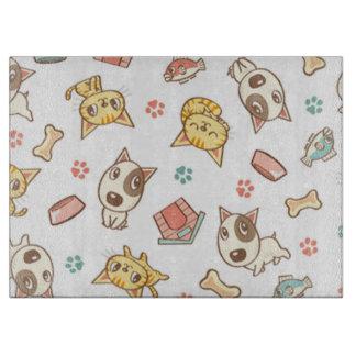 Hunde-und Katzen-Glasschneiden-Brett Schneidebrett