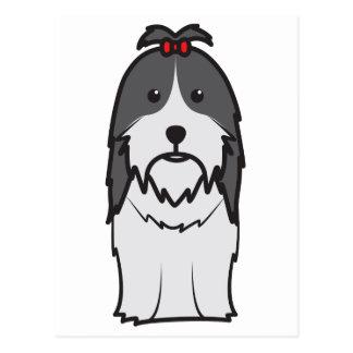 HundeCartoon Shih Tzu Postkarte