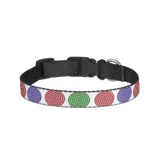 Hundehalsband - Dekor in Spirale gefärbt Haustierhalsband