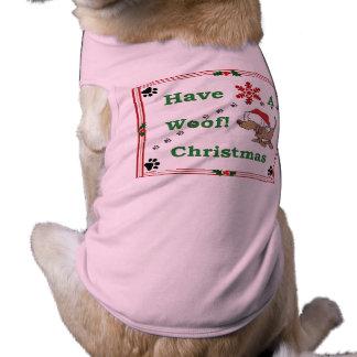 Hundehaustier-Weihnachtsschuß! Ärmelfreies Hunde-Shirt