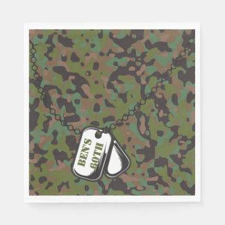 Hundeplakette-Soldat-JoeGI Papierservietten