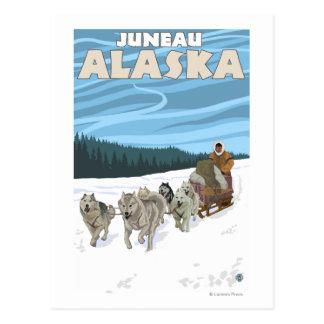 HundeSledding Szene - Juneau, Alaska Postkarte