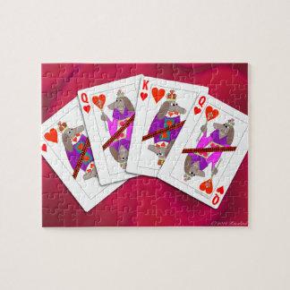 Hundespielkarten Puzzle