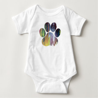 Hundetatzen-Druck Baby Strampler
