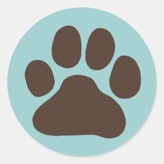 Hundetatzen-Druck Runder Aufkleber