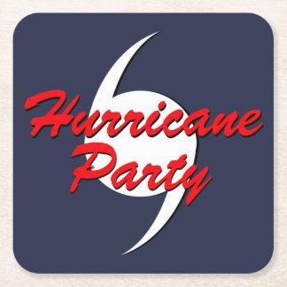 Hurrikan-Party Ihre Farben Rechteckiger Pappuntersetzer