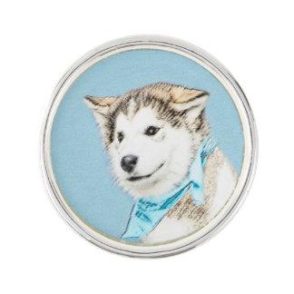 Husky-Welpe Anstecknadel