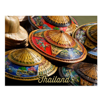 Hüte von Thailand Postkarte