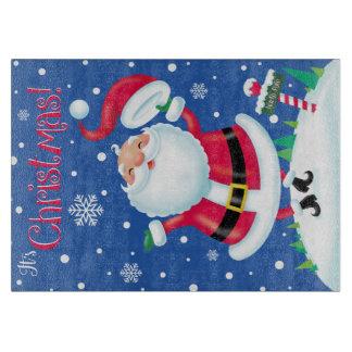 Hüte weg für Weihnachtsglasschneiden-Brett Schneidebrett