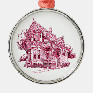 Hütte Silbernes Ornament