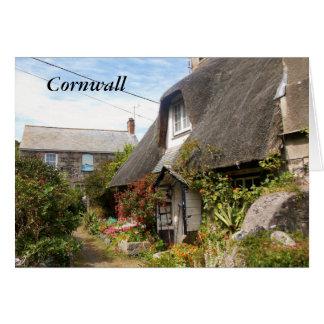 Hütten an Cadgwith Cornwall Fotografie Karte