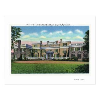 Hyde Park Ansicht von Villa Präsidenten-FDRS Postkarte